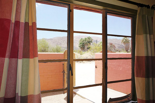 Desert view looking out from Cabin X
