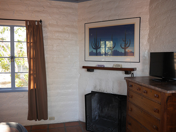 Forget Me Not Adobe with fireplace