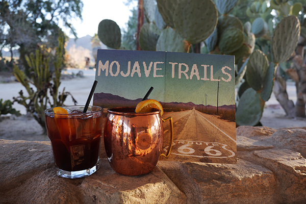 Old Spanish Trail Mule & Lava Bed Cocktails, inspired by the new National Monuments in the Mojave Desert