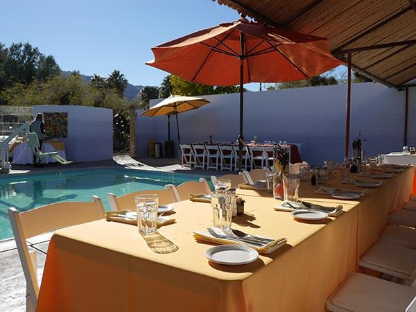 Dine Poolside at the 29 Palms Inn
