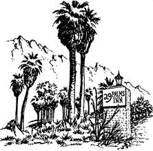 29 Palms Inn Sketch Logo