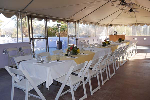 Private Event held in the tent 29 Palms Inn