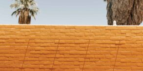 A painted gradient of a wall at 29 Palms