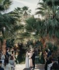 A wedding ceremony in front of the Oasis